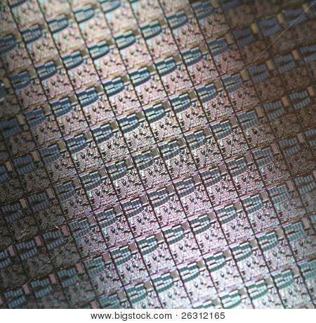 Macro of silikon microchips
