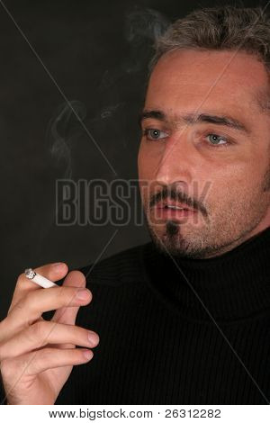 Portrait of man with cigaret