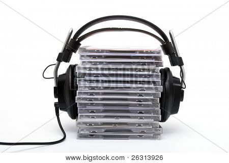Hi-fi headphones with cd´s
