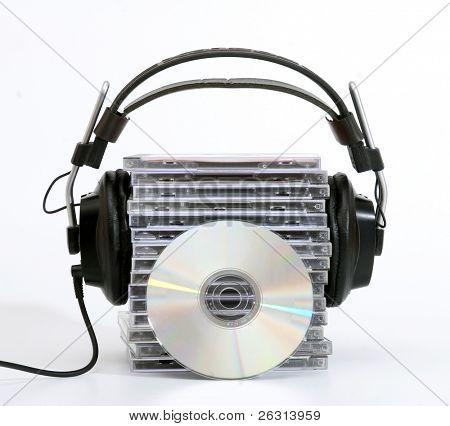 Hi-fi headphones with cd´s