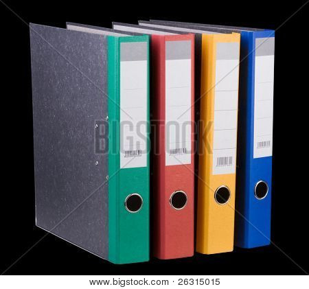 Colorful ring binders