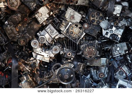 Old engine parts