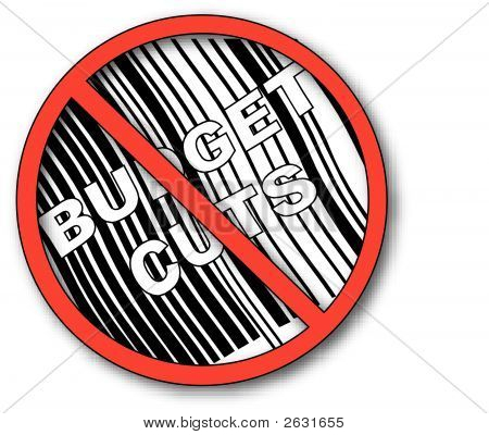 No Symbol With Barcode N No Budget Cuts 3.Eps