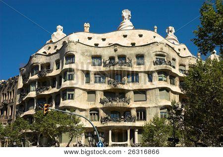 La Pedrera de Antoni Gaudí, Barcelona, España