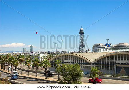 Funicular in Barcelona, Spain