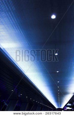 futuristic design of building inside