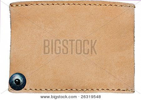 Blank jeans label isolated on white