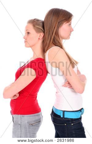 Two Young Women Disagreeing