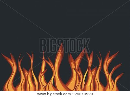 Flame, vector