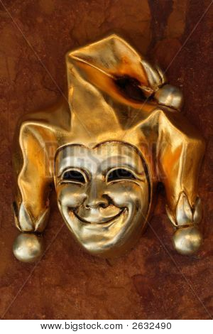 Venetian Mask Of Smiling Harlequin
