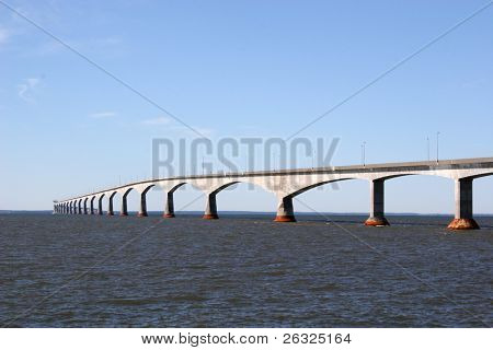 Confederation Bridge linking Prince Edward Island with the mainland