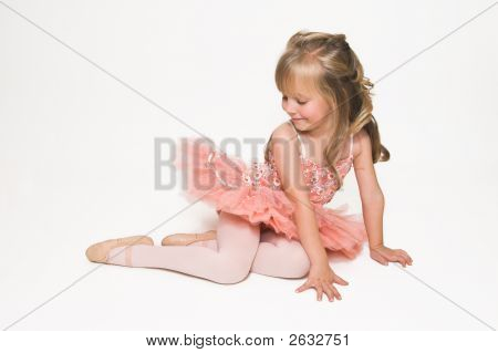 Tiny Ballerina Looking Down