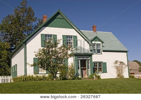 House in the National Park in Cavendish, Prince Edward Island that the author L. M. Montgomery used as a setting for her Anne of Green Gables novel.