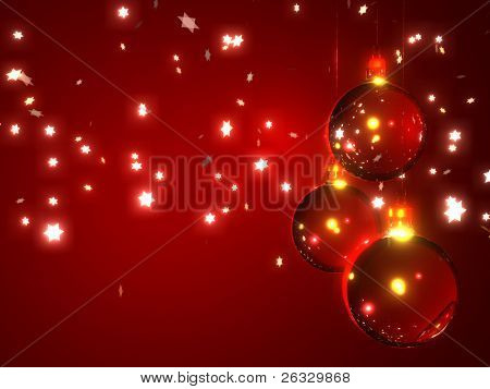 Abstract Christmas Background with Schneeflocken Sterne und Ornamente