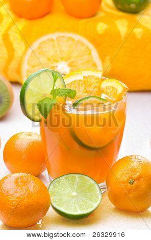Fresh citrus drink (margarita, tequila sunrise etc) or juice