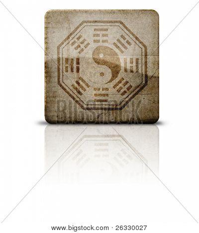 Grunge style Pakua Or Bagua symbol
