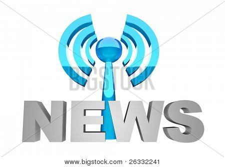 News word and broadcast station or wi-fi