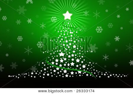 Stylized Christmas Tree Card