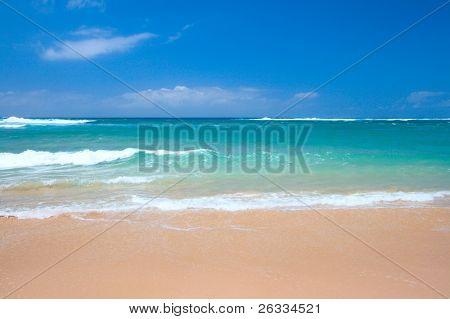 Beach scene - sand sea