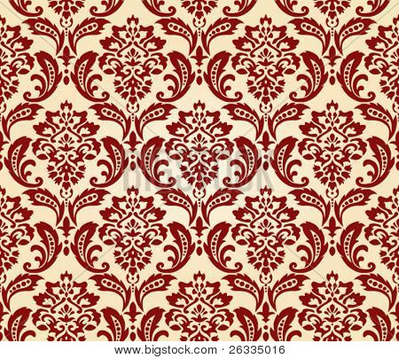 Damask pattern  wallpaper Seamless vector