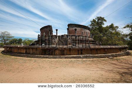 Ancient Vatadage (Buddhist stupa) in Pollonnaruwa, Sri Lanka