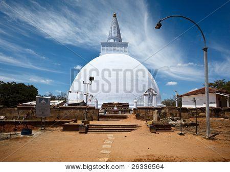 Mirisavatiya Dagoba (stupa) in Anuradhapura, Sri Lanka