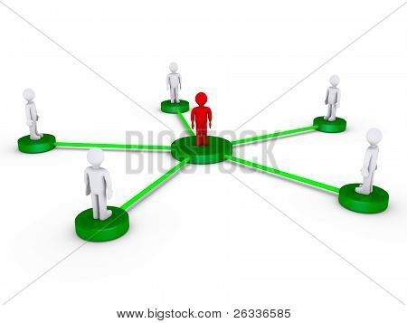 People Connected Using One Intermediate