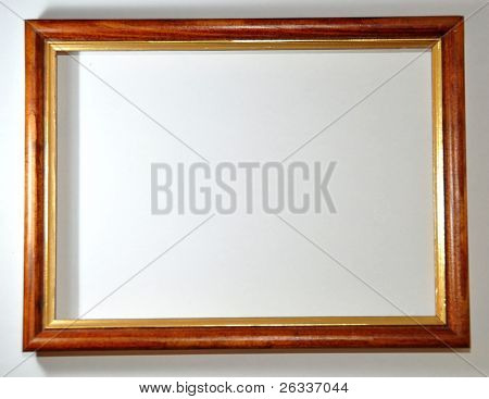 empty frame on white background