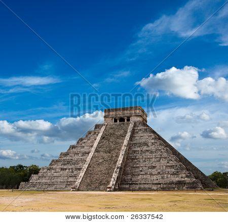 Maya-Pyramide Kukulcan el Castillo. Chichen Itza, Mexiko