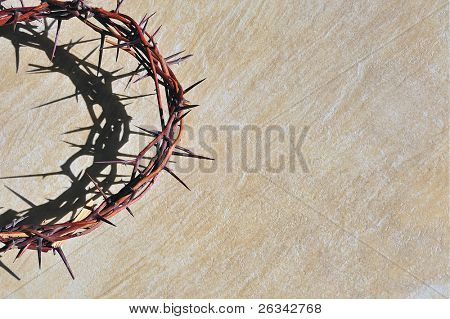 Crown of thorns  on grungy background