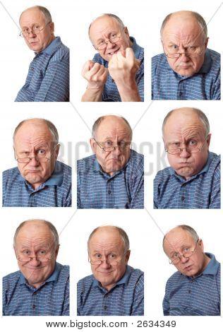 Emotional Senior Male Set