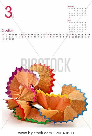 März 2010 Kalender