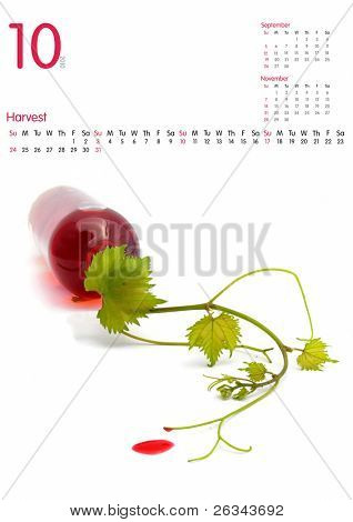Oktober Kalender 2010