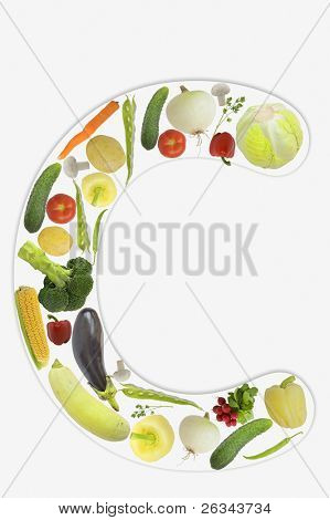 Alphabet of vegetable - C