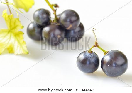 grape on white