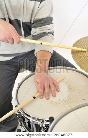 baterista tocando