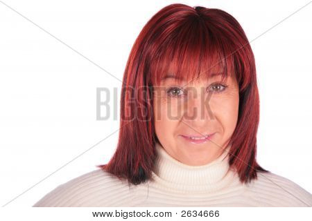 Red-Haired Woman Close-Up