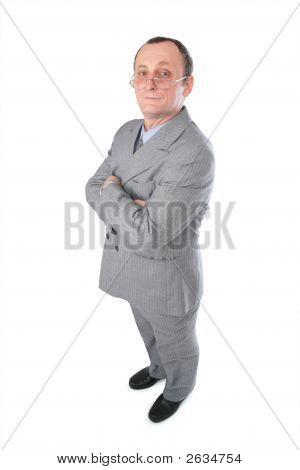 Man In Grey Suit Posing
