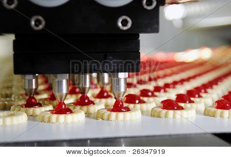 cookie de produção em fábrica
