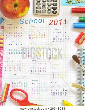 school things calendar