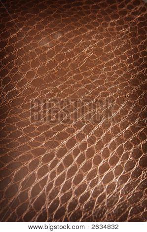 Dark Brown Crackled Leather