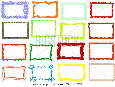16 photoframes in a vector format