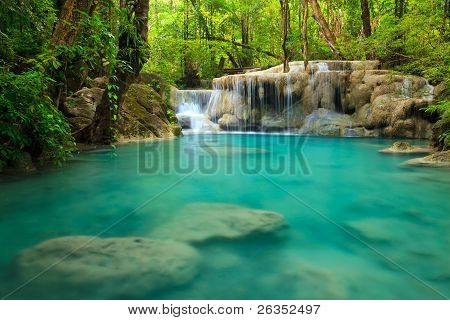 Cascada de Erawan, Kanchanaburi, Tailandia