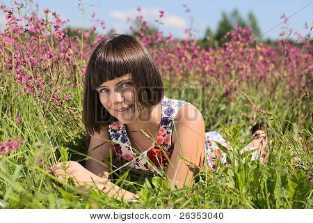 Girl On A Meadow.