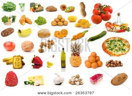 Set of vegetable food