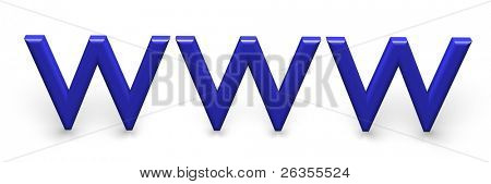 3d World Wide Web internet symbol
