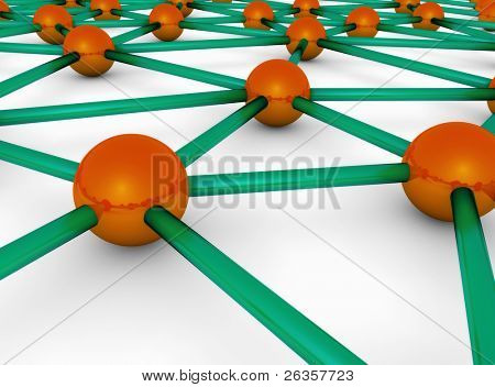 sphere and wires, communication illustration