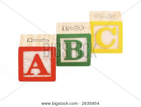 Alphabet Blocks Isolated