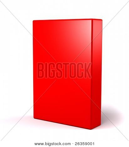 3D red box on white