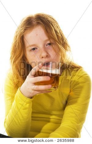 Young Kid Is Drinking